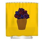 Dark Rose Folk Art Shower Curtain