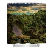 Dark Skies Over The Avon Shower Curtain
