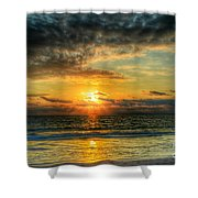 Dark Sky Angles Shower Curtain