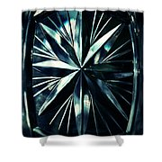 Dark Star On A Glass Scale Shower Curtain