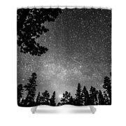 Dark Stellar Universe Shower Curtain