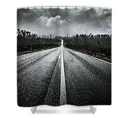 Dark Stormy Road To Cradle Mountain In Tasmania Shower Curtain