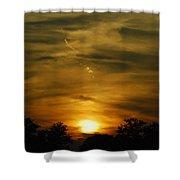 Dark Sunset Shower Curtain