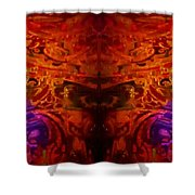 Dark Symetry 2 Shower Curtain