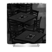 Dark Tables Shower Curtain