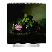 Dark Vases Shower Curtain