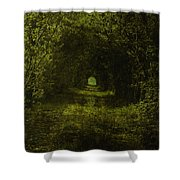 Dark Wood Shower Curtain
