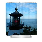 Darkened Lighthouse Shower Curtain