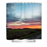Darkness Ends Shower Curtain