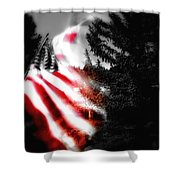 Darkness Falling On Freedom Shower Curtain