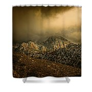 Darkness Falls Over The Sandias Shower Curtain