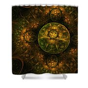Darkness Looms Shower Curtain