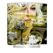 Darling Diamonds Shower Curtain