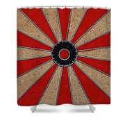 Dart Board Shower Curtain