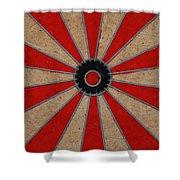 Dart Board Shower Curtain