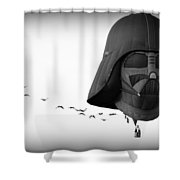 Darth And His Flock Shower Curtain