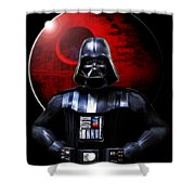 Darth Vader And Death Star Shower Curtain