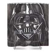 Black And White Star  Shower Curtain