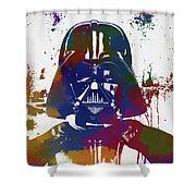 Darth Vader Paint Splatter Shower Curtain