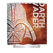 Darth Vader - Star Wars Art - Brown And White Shower Curtain