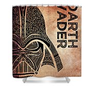 Darth Vader - Star Wars Art - Brown Shower Curtain