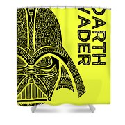Darth Vader - Star Wars Art - Yellow Shower Curtain