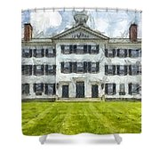 Dartmouth College Hanover New Hampshire Pencil Shower Curtain
