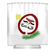 Daruma Shower Curtain