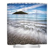 Dasia Island Shower Curtain