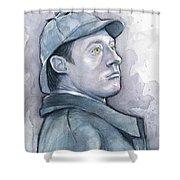 Data As Sherlock Holmes Shower Curtain