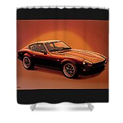 Datsun 240z 1970 Painting Shower Curtain