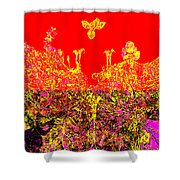 Datura Bird Shower Curtain by Eikoni Images