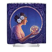 Datura - True Motives Shower Curtain by Anne Wertheim