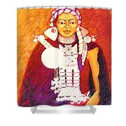 Daughter Of The Bright Sun - Kushe Shower Curtain