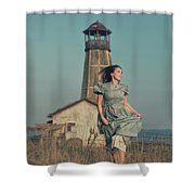 Daughter Of The Lighthouse Keeper Shower Curtain