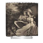 Daughters Of Sir Thomas Frankland Bart (the Sisters) Shower Curtain