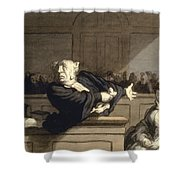 Daumier: Advocate, 1860 Shower Curtain