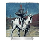 Daumier: Quixote, 19th C Shower Curtain