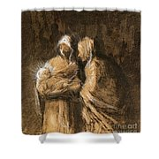 Daumier: Virgin & Child Shower Curtain