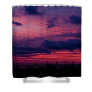 Dauphin Island Sunset #4 Shower Curtain