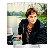 Dave And His Boat Shower Curtain