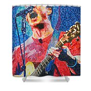 Dave Matthews Squared Shower Curtain