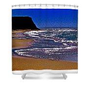 Davenport Landing Beach Purple Shower Curtain