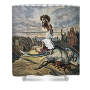 David And Goliath Shower Curtain