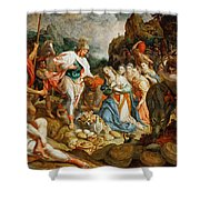 David And Abigail Shower Curtain