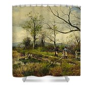 David Bates England Shower Curtain