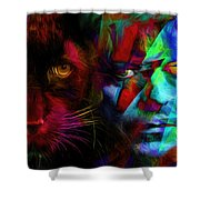 David Bowie - Cat People  Shower Curtain
