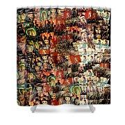 David Bowie Collage Mosaic Shower Curtain