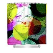 David Bowie Futuro  Shower Curtain
