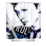 David Bowie Ground Control To Major Tom Shower Curtain